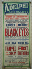 Black Eyes/Trapped in the Sky, UK film poster, Otto Kruger, Jack Holt '40